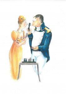 Napoleón y Madame de pie