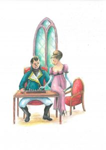 Napoleón y Madame sentados