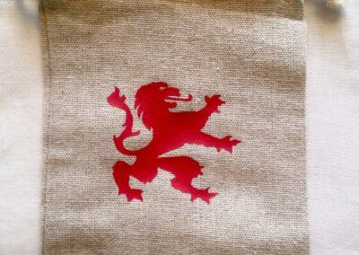 Bolsita león rojo