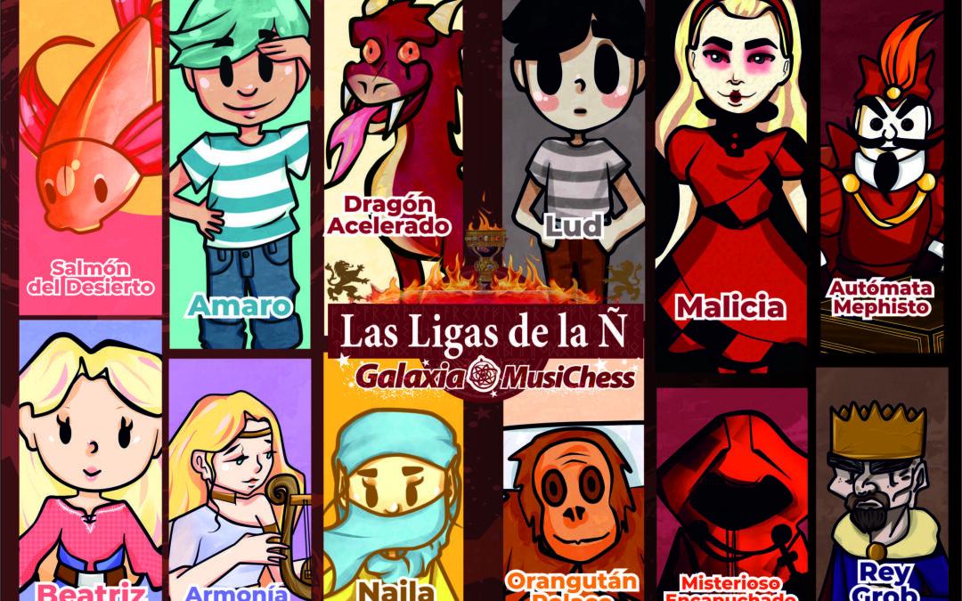 Poster I Las Ligas de la Ñ Galaxia MusiChess