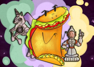 Taco Rex y Mutantes Interestaleres