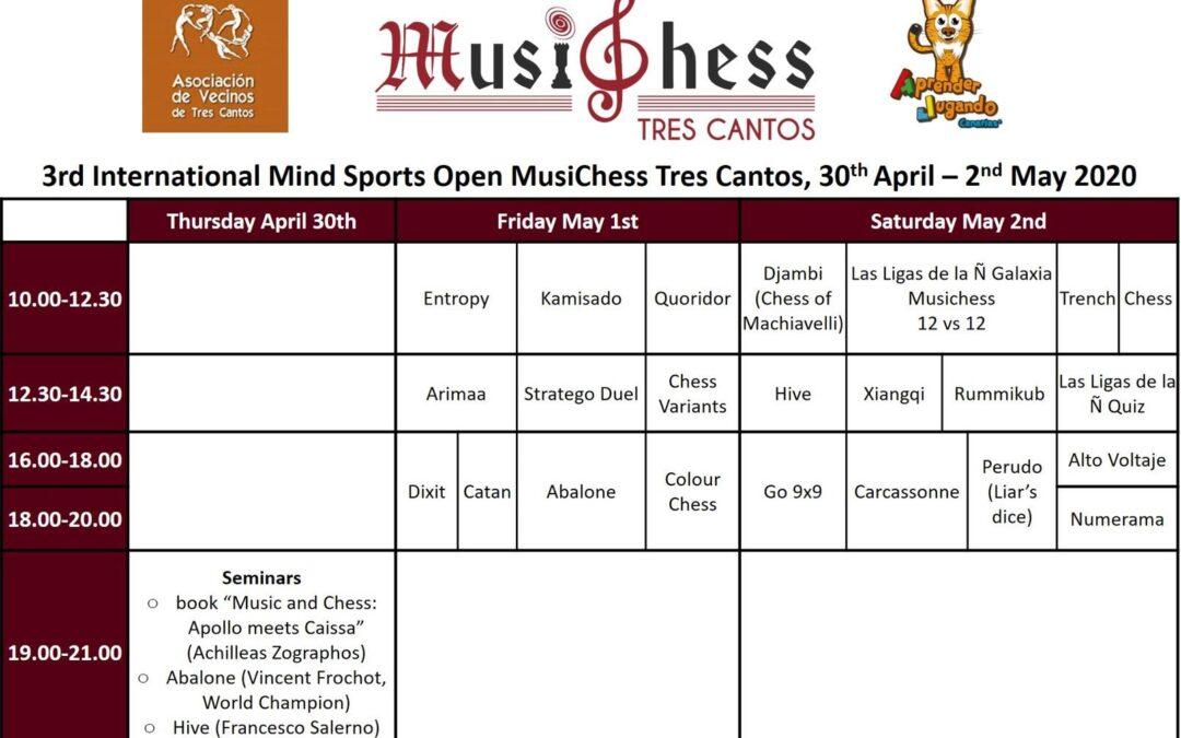 3rd Mind Sports MusiChess International Open